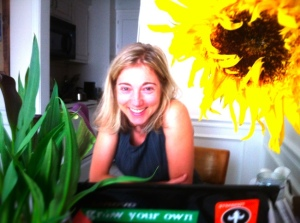 amy with sunflower