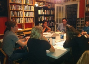 Sarah Tourjee's summer writing workshop at Ada Books