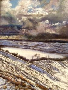 Threatening storm. Pastel. GLYN OVERTON. 14 : 1 : 2015.