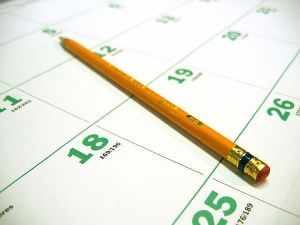 writing-on-calendar