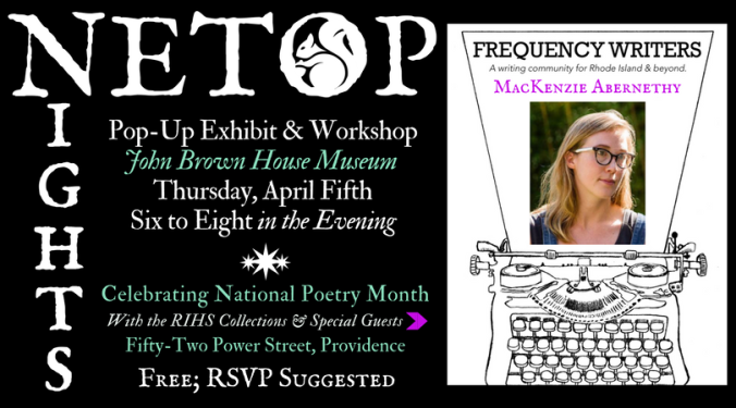 Netop Nights pop-up creativre writing workshop RIHS